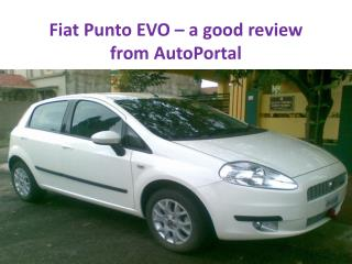 Fiat Punto EVO – a good review from AutoPortal