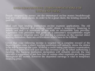 Cash loan Lenders