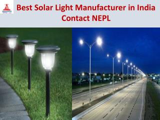 Best Solar Light Manufacturer in India Contact NEPL
