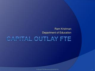 Capital Outlay FTE