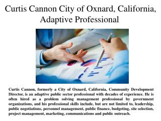 Curtis Cannon City of Oxnard, California,Adaptive Professional