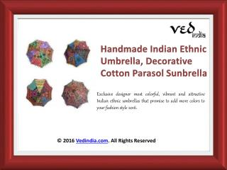 Handmade Rajasthani Vintage Umbrellas | Decorative Cotton Parasol