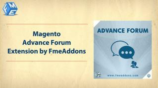 FME Forum Extension - Integrate Forum into Magento
