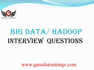 Big Data latest Interview Questions.