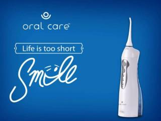 Oral care water flosser
