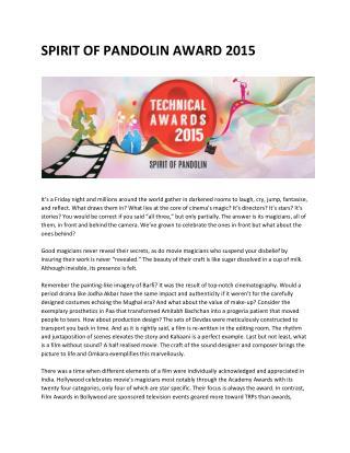 pandolin awards 2015