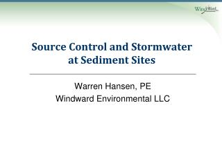 Source Control and Stormwater at Sediment Sites