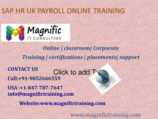 SAP HR UK PAYROLL ONLINE TRAINING SOUTH AFRICA|AUSTRALIA|GERMANY