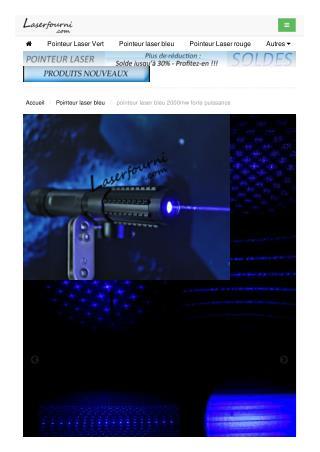 pointeur laser bleu 2000mw forte puissance