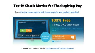 Top 10 classic movies for thanksgiving day