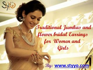 Get nice-looking Jhumkas and Earrings for Women Online at Styyo  91-7073998881