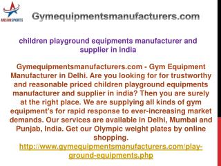 children playground equipments manufacturer and supplier in india