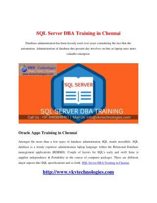 SQL Server DBA Training in Chennai