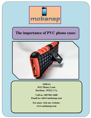 The importance of PVC phone cases
