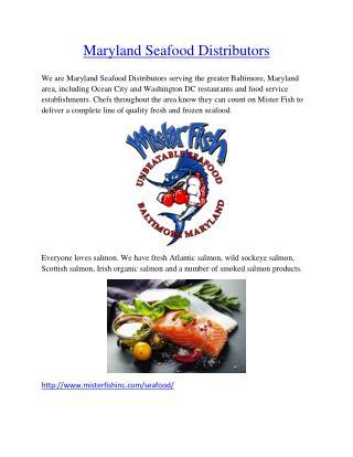 MarylandSeafood Distributors