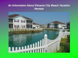 Things to Know About Panama City Beach Vacation Rentals