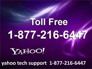 yahoo tech support  1-877-216-6447