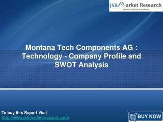 Company Profile of Montana Tech Components AG: JSBMarketResearch