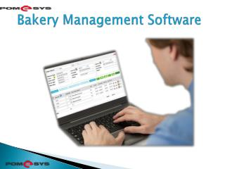 Bakery Management Software
