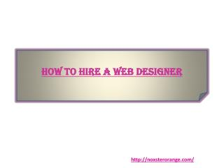 How to Hire a Web Designer