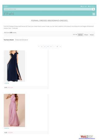 formal bridesmaid dresses nz from topbridal