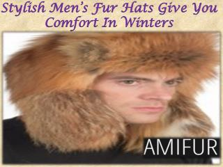 Stylish Men's Fur Hats Give You Comfort In Winters