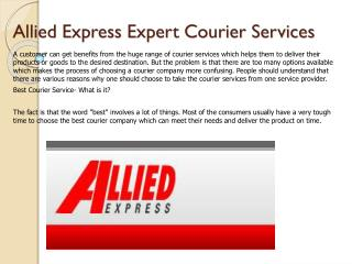 Allied Express Expert Courier Services