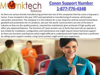 Canon Support Number for printers USA and CANADA toll free