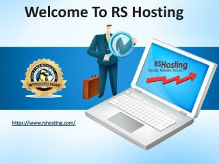 Ecommerce Website Hosting - RS Hosting- RS Hosting