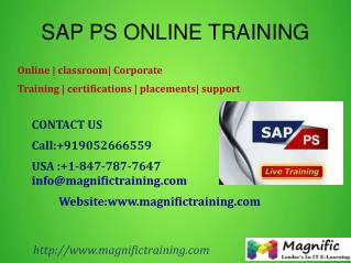 SAP PS ONLINE TRAINING IN UK|US