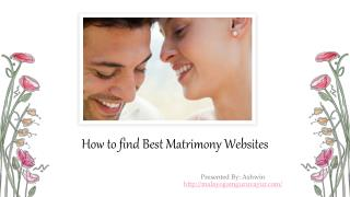 Tips to find best Matrimony Website