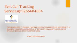 TecBiz India, Virtual Call Tracking Solutions, Virtual Communication Solutions