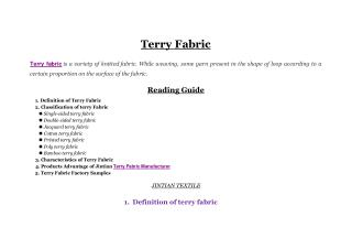 terry fabric