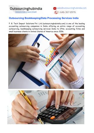 Accounting & Outsourcing Bookkeeping Services in India
