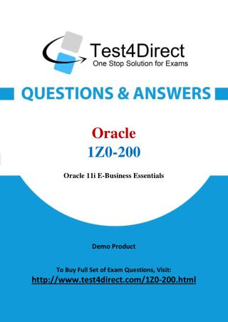 Oracle 1Z0-200 Test - Updated Demo