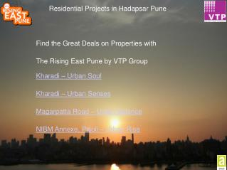 VTP Rising East | 3BHK Residential Projects in Hadapsar Pune