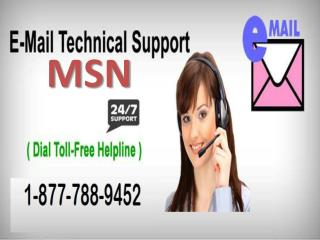 Ring on MSN email support 1-877-788-9452 tollfree number for MSN emails