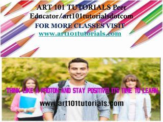 ART 101 TUTORIALS Peer Educator/art101tutorialsdotcom