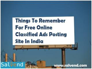 Things To Remember For Free Online Classified Ads Posting Site In India