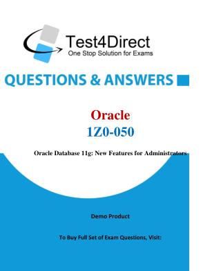 Oracle 1Z0-050 Test Questions