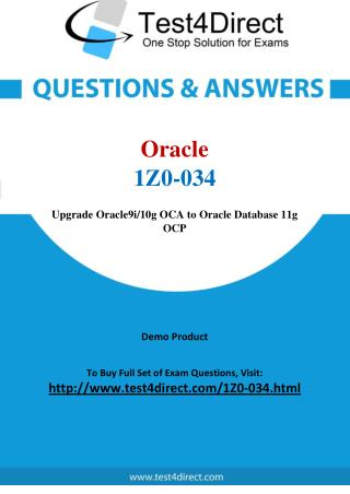 1Z0-034 Oracle Exam - Updated Questions