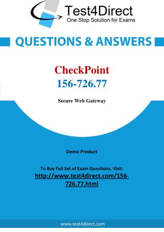 CheckPoint 156-726.77 Test - Updated Demo