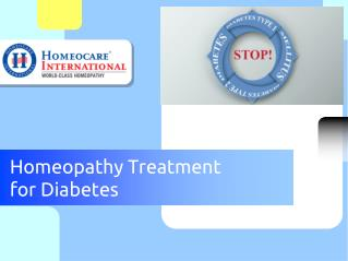 Best Homeopathic Medicines for Diabetes