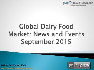 Dairy Food Market: News and Events: JSBMarketResearch