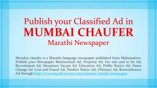 Mumbai-Chaufer-Classified-Display-Advertisement-India