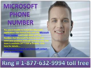 Microsoft phone number && 1-877-632-9994 toll free