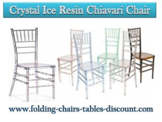 Crystal Ice Resin Chiavari Chair