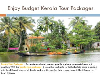Enjoy Budget Kerala Tour Packages