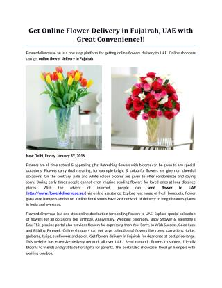 Get Online Flower Delivery in Fujairah, UAE with Great Convenience!!