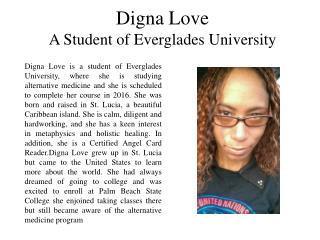 Digna Love - A Student of Everglades University